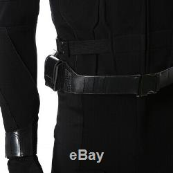 Spider-Man Far From Home Cosplay Peter Parker Stealth Suit Costume Black Suit