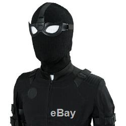 Spider-Man Far From Home Peter Parker Stealth Suit Uniform Cosplay Black Costume