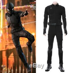 Spider-Man Far From Home Stealth Suit Costume Peter Parker Cosplay Black Suit