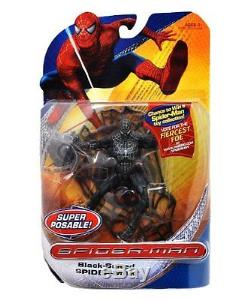 Spiderman Classic Trilogy Heroes Action Figures Black Suited Spiderman