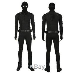 Spiderman Far From Home Noir Stealth Suit Spider-Man Cosplay Costume Halloween