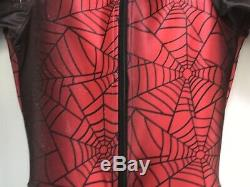 Spyder Youth Girls Boys Ski Racing Suit Padded Red Black Web Spider Man 10-12