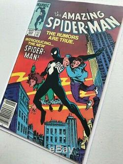 The Amazing Spider-Man #252 1st App of Black Suit Cover Newsstand ASM