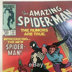 The Amazing Spider-Man #252 1st Black Suit Cover Newsstand ASM Spidey Marvel NM