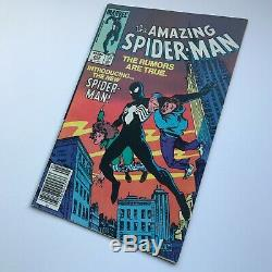 The Amazing Spider-Man #252 1st Black Suit Cover Newsstand MARK JEWELERS INSERT