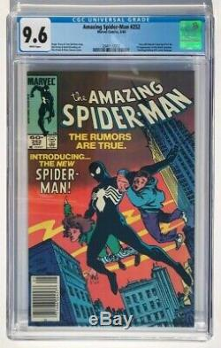 The Amazing Spider-Man #252 CGC 9.6 1st App Black Suit Marvel Newsstand WP