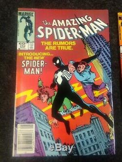 The Amazing Spider-Man #252 (May 1984, Marvel) First Black Suit and Feb 273 NM