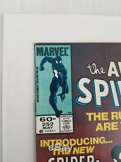 The Amazing Spider-man #252 1984 Black Suit Newsstand Signed Klaus Janson