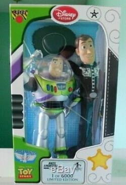Toy Story Buzz Lightyear and Woody in black suit