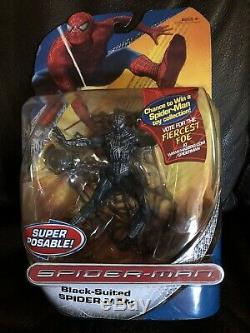 Trilogy Black Suited Spiderman Wall Hanging Web 2007 Hasbro Action Figure